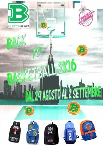 BACK TO BASKETBALL 2K16 29 AGOSTO-2 SETTEMBRE